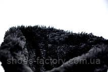 Женские угги из натуральной замши черные, фото 2