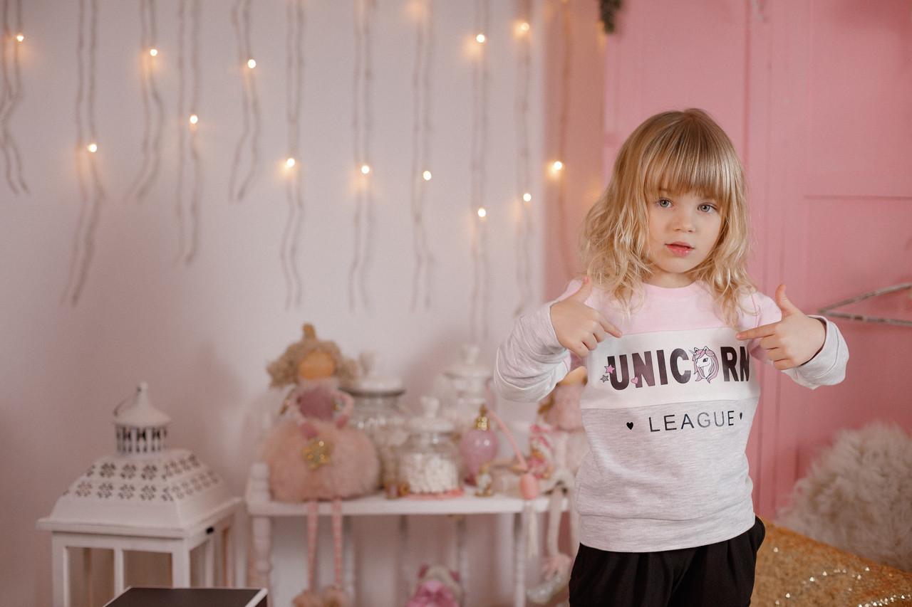 Стильный свитшот для девочки  Unicorn