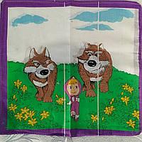 Носовички платки носовые детские хлопок 100 % в разных цветах