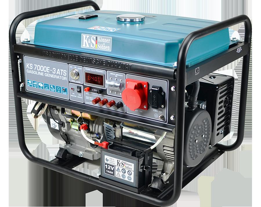 Трехфазный бензиновый генератор Könner & Söhnen KS 7000E-3 ATS (5.5 кВт)
