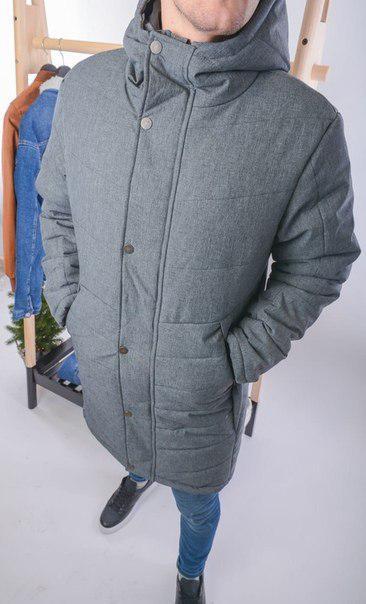 Мужская длинная куртка-парка