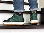 Мужские кроссовки Nike Lunar Force 1 Duckboot (зелено-черные), фото 3