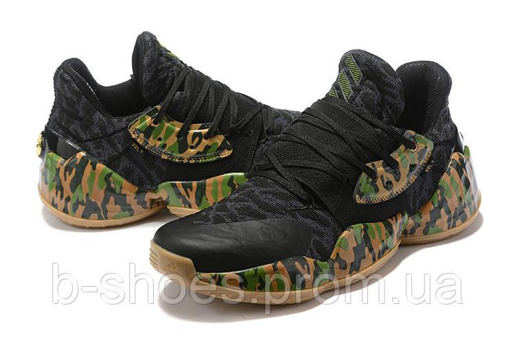Мужские Баскетбольные кроссовки  Adidas Harden 4(Black)