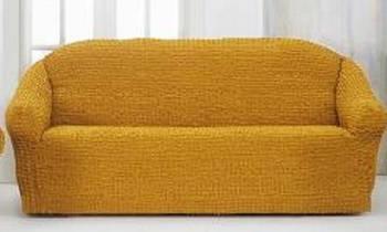 Накидка на 3-х местный диван от 170 до 230 см жёлтая
