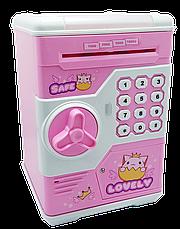 Детская копилка Сейф Password Safe розовая, фото 3