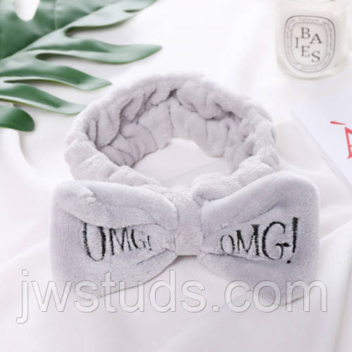 Повязка для волос OMG косметическая повязка СЕРАЯ