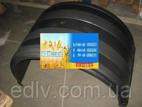 Крыло грузовое КамАЗ,Евро,Полуприцеп двускатное (белая окантовка) (TEMPEST)