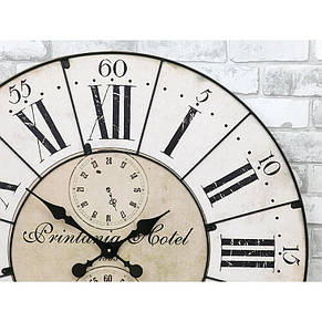 Деревянные настенные часы а ретро стиле 80 см Pastel Vintage, фото 3