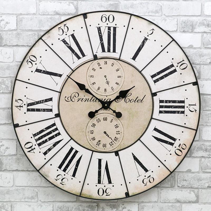 Деревянные настенные часы а ретро стиле 80 см Pastel Vintage