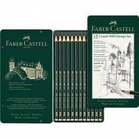 Набор графитных карандашей Faber Castell CASTELL 9000 12 шт. 5Н-5В (119064)