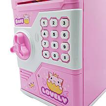 Детская копилка Сейф Password Safe розовая, фото 2