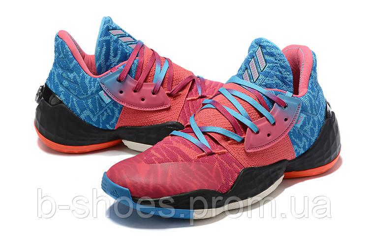 Мужские Баскетбольные кроссовки  Adidas Harden 4(Pink/blue)