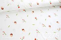 Ткань сатин Желуди и листочками