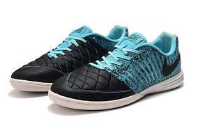Футзалки Nike Lunar Gato II IC black/blue