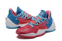 Мужские Баскетбольные кроссовки  Adidas Harden 4(Pink/blue), фото 1