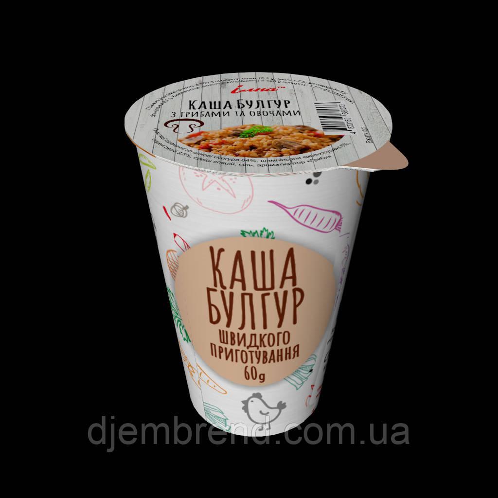 Каша ИЛНА Булгур с грибами и овощами 60 гр, ящ/10шт