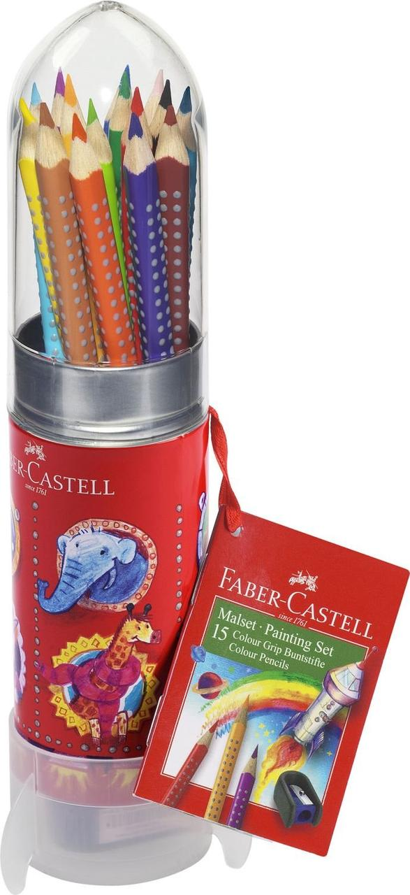 Кольорові олівці Faber Castell GRIP 10 цв. Ракета (201643)