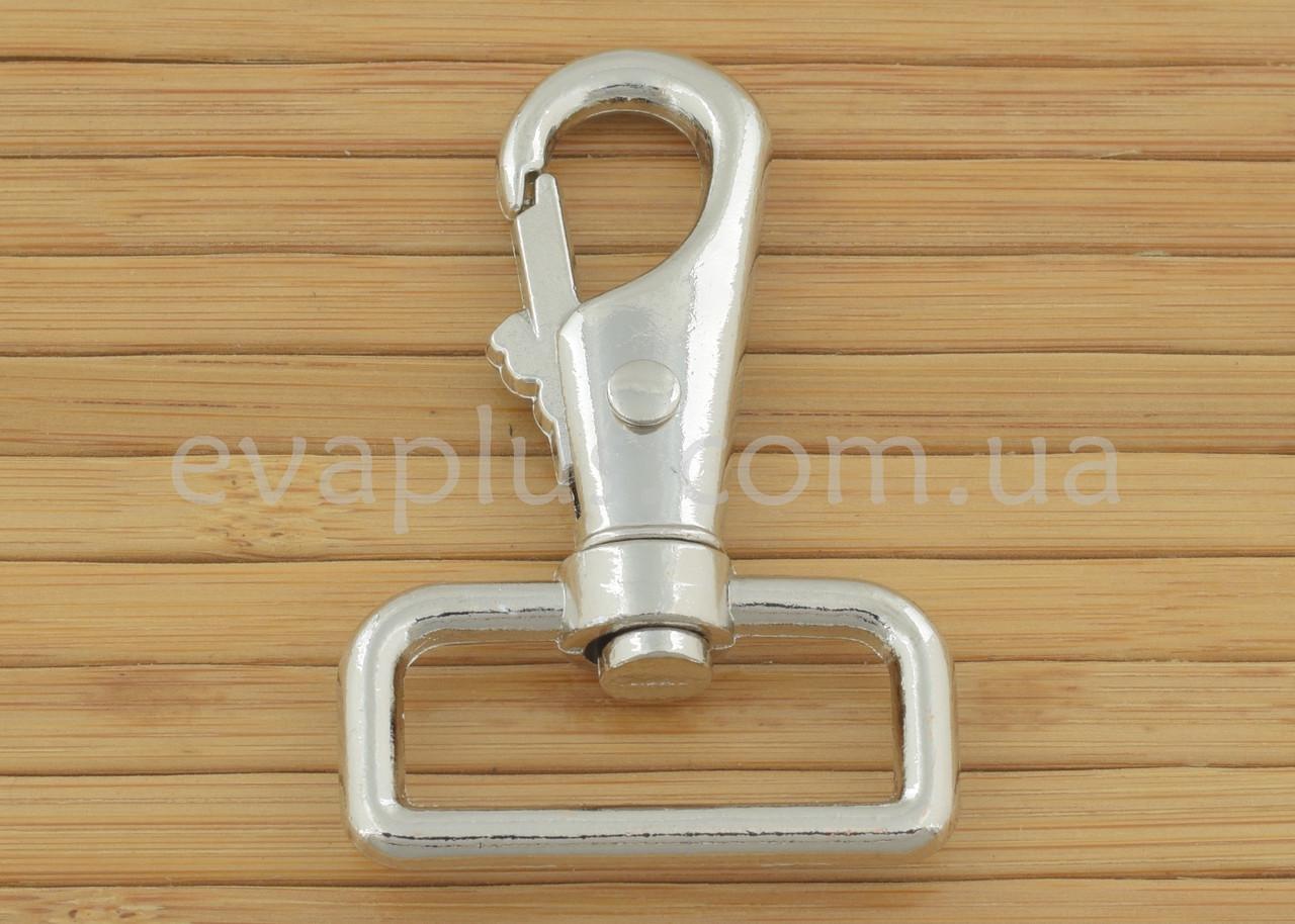 Карабін для сумки 32 мм. 132Н (нікель)