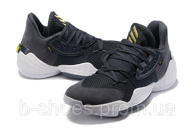 Мужские Баскетбольные кроссовки  Adidas Harden 4(Grey)