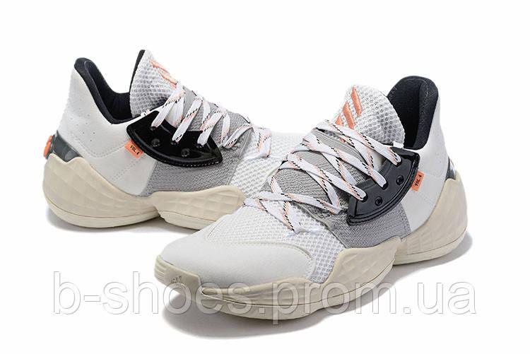 Мужские Баскетбольные кроссовки  Adidas Harden 4(White/beige)