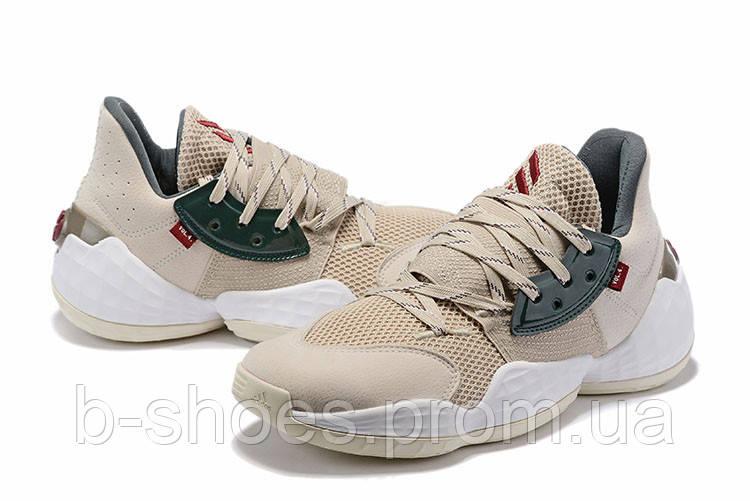 Мужские Баскетбольные кроссовки  Adidas Harden 4(Beige/green)