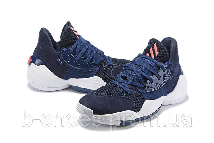 Мужские Баскетбольные кроссовки  Adidas Harden 4(Blue)