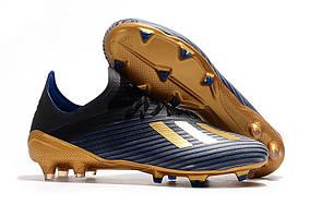 Бутсы Adidas X 19.1 FG blue/gold