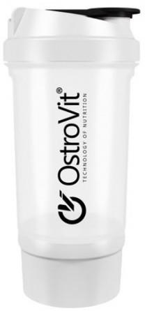 Шейкер OstroVit - Premium + 1 контейнер (500 мл) белый
