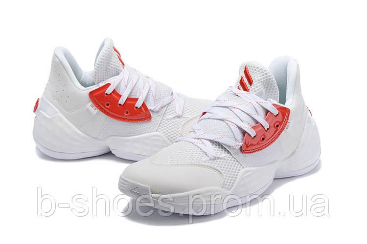Мужские Баскетбольные кроссовки  Adidas Harden 4(White)
