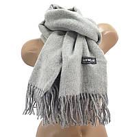 Женский кашемировый шарф LuxWear S128 Светло-серый