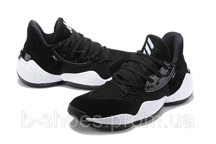 Мужские Баскетбольные кроссовки  Adidas Harden 4(Black/white)