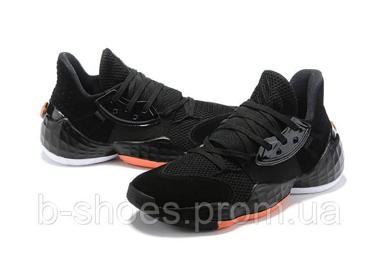 Мужские Баскетбольные кроссовки  Adidas Harden 4(Black/orange)