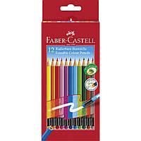 Цветные карандаши с ластиком Faber Castell CLASSIC COLORS 24 цв. (116625)