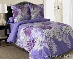 Комплект постельного белья полуторный  ПАЛЬМИРА фиолет (нав. 70*70)