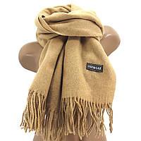 Женский кашемировый шарф LuxWear S128 Песочный