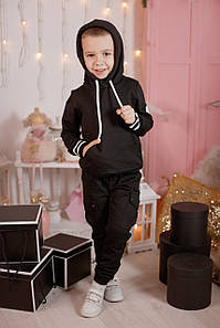Карго-штаны для мальчика Черные
