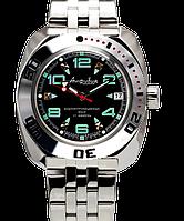 Командирские мужские механические наручные часы Амфибия Восток с автоподзаводом 11