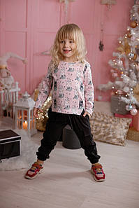Модные карго-брюки для девочки Черные