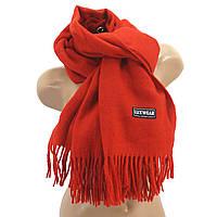 Женский кашемировый шарф LuxWear S128 Красный