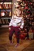 Модные карго-брюки для девочки Бордо в полоску, фото 2