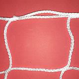 Сетка безузловая для мини футбола, футзала, гандбола ворот «ЕВРО СТАНДАРТ» белая (комплект из 2 шт.), фото 3