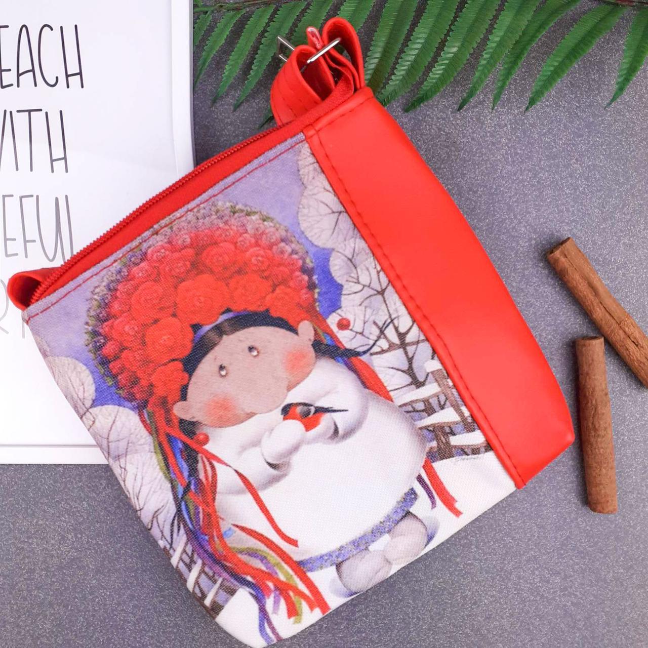 Красная сумка для девочки с принтом Украиночка