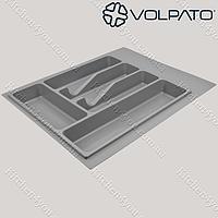 Лоток Volpato (Италия) 390х490 мм. серый для столовых приборов