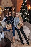 Новогодний свитер шерсть Рождественский модный снежинки