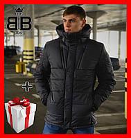 Куртка зимняя мужская Everest Intruder с капюшоном, пуховик теплый серый