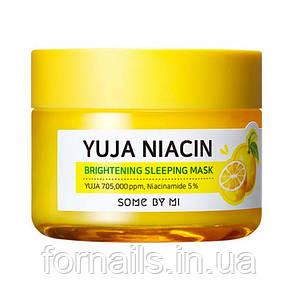 Ночная осветляющая маска Some by mi Yuja Niacin Brightening Sleeping Mask 60 грамм