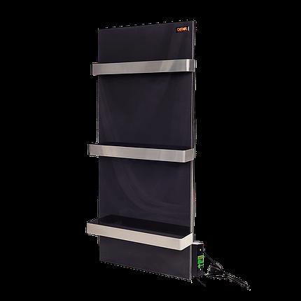Стекло–керамический полотенцесушитель Dimol Standart 07 TR с терморегулятором чёрный, фото 2