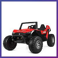 Детский электромобиль джип Багги c пультом Bambi M 4170 EBLR-3 красный | Дитячий електромобіль Бембі червоний