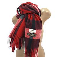 Женский шерстяной шарф Sky Cashmere Burberry красный