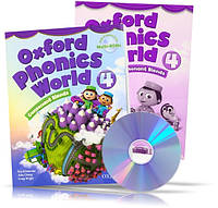 Oxford Phonics World 4, Student's book + Workbook + DVD / Учебник + Тетрадь (комплект с диском) английского языка